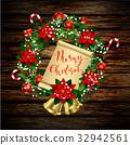 wreath, bow, white 32942561