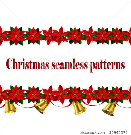 Set of n Seamless Christmas borders 32942573