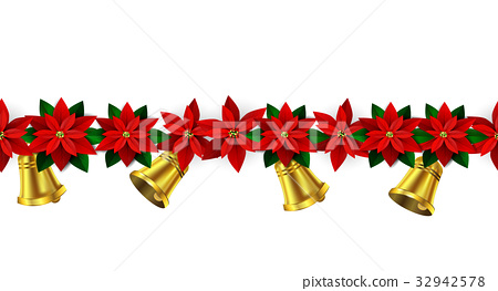 Seamless Christmas borders 32942578