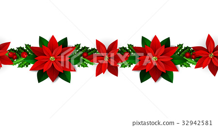 Seamless Christmas borders 32942581