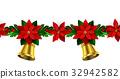 seamless, vector, christmas 32942582