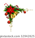 vector, red, christmas 32942625