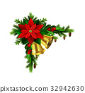 vector, red, christmas 32942630