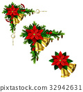 vector, red, christmas 32942631