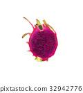 Dragon Fruit isolated on white background 32942776