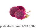 Dragon Fruit isolated on white background 32942787