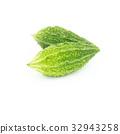 Momordica charantia isolated on white background 32943258