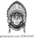 動物 手繪 插圖 32943344