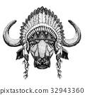 野生 帽子 公牛 32943360