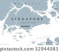 Singapore political map 32944083