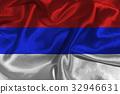 Russia national flag 3D illustration symbol. 32946631
