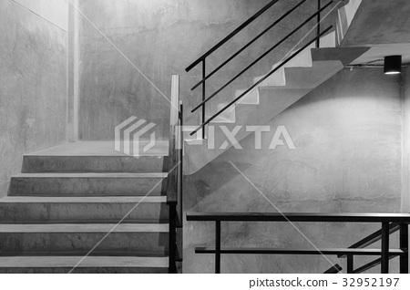 Empty modern rough concrete stairway 32952197
