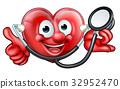 Stethoscope Heart Cartoon Character 32952470