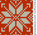 Nordic knitted perfect seamless pattern. EPS 10 32952561