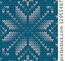 Christmas Seamless Knitting background. EPS 10 32955487