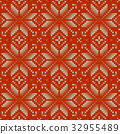 Nordic knitted perfect seamless pattern. EPS 10 32955489