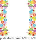 背景素材-雅な和柄3-siro(テクスチャ) 32960129