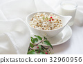 Healthy breakfast with boiled job's tears porridge 32960956