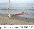 稲毛海岸 해수욕장 노란 표시 부표 32961033