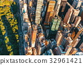 Aerial view of Columbus Circle in NYC 32961421