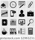 Office and business icons set 32963231