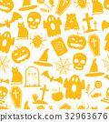 Halloween seamless pattern 32963676
