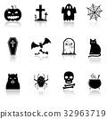 Halloween icons 32963719