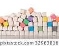 colorful chalks, education or business concept 32963816