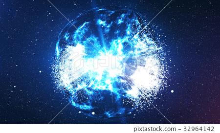 Spheri Big Bang explosion in the universe 32964142
