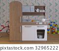 Children kitchen design interior play set with 32965222