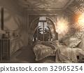 3d render bedroom Islamic style interior design  32965254