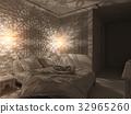 3d render bedroom Islamic style interior design  32965260