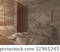 3d render bedroom Islamic style interior design  32965265