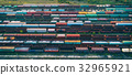 Aerial view of colorful freight trains 32965921