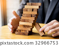 Planning, risk and wealth strategy in business concept, business 32966753