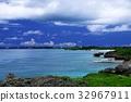푸른 하늘, 바다, 구름 32967911