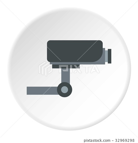 Surveillance camera icon circle 32969298