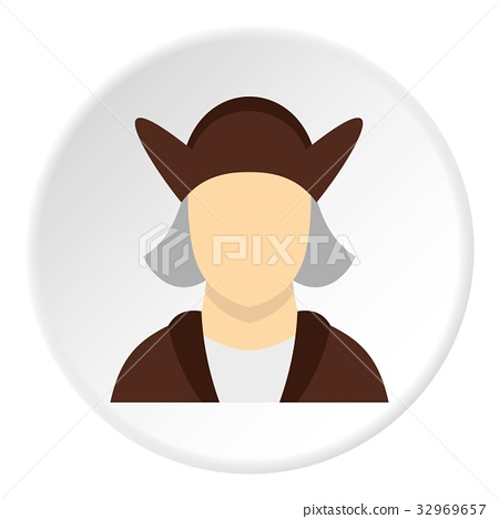 Man wearing in Christopher Columbus costume icon 32969657