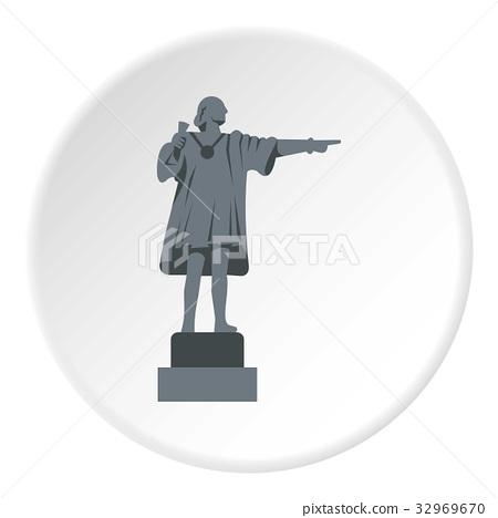Christopher Columbus Statue icon circle 32969670
