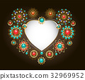 frame, heart, gemstone 32969952