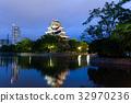 Hiroshima castle in Japan 32970236