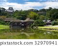 Nagahama Castle and green garden 32970941