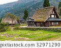 traditional, shirakawago, village 32971290