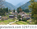 shirakawago, japan, village 32971313