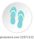 Flip flop sandals icon circle 32971332