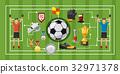 Soccer game banner horizontal, cartoon style 32971378