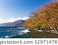 Lake Towada in autumn 32971476