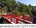 Matsushima Miyagi and red bridge 32971582