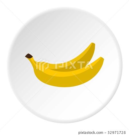Banana icon circle 32971728