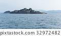 Battleship island in Nagasaki of Japan 32972482